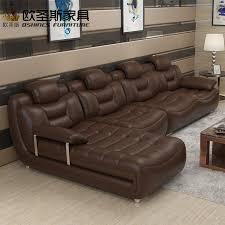canape cuir moderne contemporain brun heureux contemporain meubles salon importé italie faux moderne
