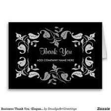 business thank you flower green text on black card green