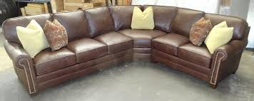 Barnett Furniture King Hickory Winston - Hickory leather sofa