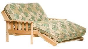 wood futon frame with tray arm santa cruz oak the futon shop with