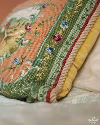 vintage needlepoint pillow thrift score thursday 108