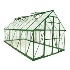 Harmony Greenhouse Palram Balance 8 Ft X 16 Ft Green Polycarbonate Greenhouse