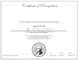 Hvac Certification Letter How To Become A Certified Home Inspector In Washington Internachi