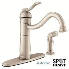 Moen Single Handle Kitchen Faucets Moen 87427 Single Handle Kitchen Faucet With Side Spray From The