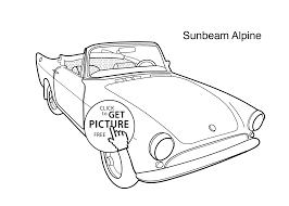 super car sunbeam alpine coloring page for kids printable free