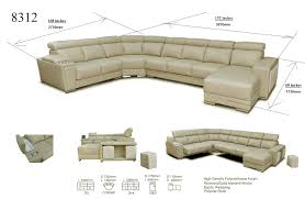 Sectional Sofas Dimensions 8312 Modern Sectional Sofa Sliding Seats Esf Furniture Modern