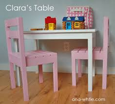 Building A Simple Wooden Desk by Ana White Clara Table Diy Projects