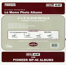 5x7 photo album refill pages pioneer memo pocket album refill 4 inch by 6 inch for
