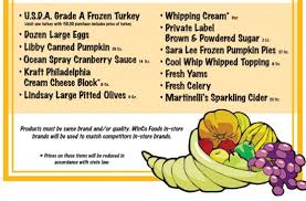 winco thanksgiving low price guarantee on select products
