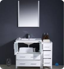 bathroom vanity with side cabinet fresca torino 42 white modern bathroom vanity with faucet and linen