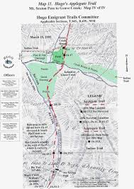 Map Of Grants Pass Oregon by Applegate Trail Map Iv