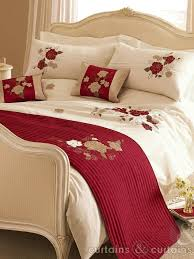 Red Duvet Set Red Cream U0026 Gold Tami Embroidered Duvet Cover Duvet Cream