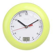 selling thermometer bathroom wall clocks temperature display