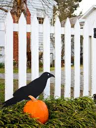 giant raven outdoor halloween decoration hgtv