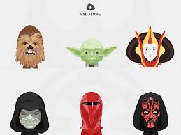 free star wars avatars vol 2 oxygenna dribbble