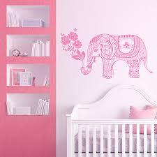 elephant wall decal elephant yoga vinyl stickers indie wall