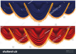 Red Blue Curtains Vector Blue Red Curtains Stock Vector 77691904 Shutterstock