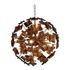 sputnik chandelier fontana arte sputnik chandelier bronze glass chairish