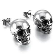 skull stud earrings skull earrings ebay