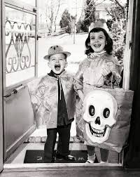 see how kids used to celebrate halloween from the 1930s through