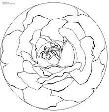 flower mandala coloring pages getcoloringpages com