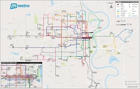 Map Of Twin Cities Metro Area by Omaha Metro System Map