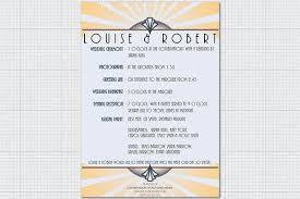deco wedding program 1920 s and deco wedding stationery paperblog