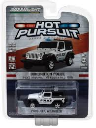 police jeep toy greenlight 1 64 2009 jeep wrangler burlington wi police