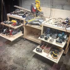 Tool Bench Organization Best 25 Power Tool Storage Ideas On Pinterest Garage Tool