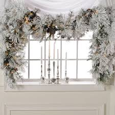 colin cowie christmas party colin cowie 9 flocked white garland