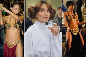 a brief history of famous people dressing up as princess leia zimbio