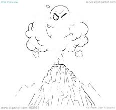 coloring pages volcano volcano 8 nature printable coloring pages coloring page volcano
