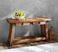 Reclaimed Wood Console Table Pottery Barn Monroe Console Table Pottery Barn