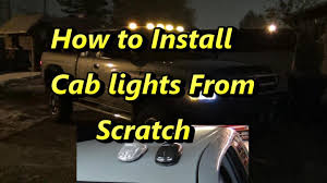 ford f250 cab lights kit how to install atomic led cab lights from scratch youtube