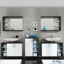 badezimmer set grau badezimmer set jesses mit beleuchtung wohnen de