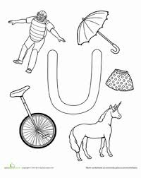 letter u coloring pages for kids free alphabet coloring pages