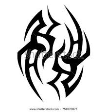 tribal tattoo art designs sketched simple stock vector 616006121