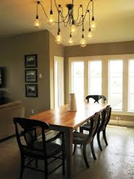 Dining Table Lighting by Farmhouse Dining Room Lighting Fixtures Wide Seat And Sloping Back