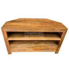 light wood corner tv stand ambala cube light mango wood corner tv dvd unit solid indian