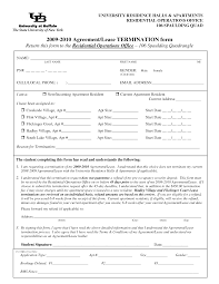 Free Residential Lease Agreement Templates Lease Termination Forms By Jessicaderusso Termination Of Lease