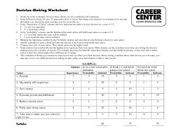 decision making worksheet careers 11th 12th grade worksheet