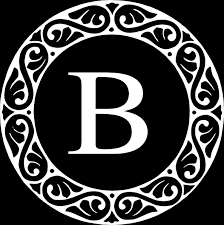 monogram letter b letter b monogram clip at clker vector clip online