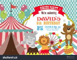 Birth Day Invitation Card Circus Birthday Invitation Card Stock Vector 508370509 Shutterstock