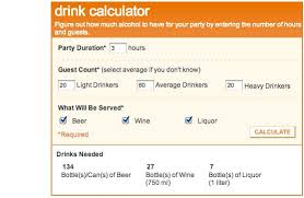 How To Calculate The Needed Bookmark This How To Calculate The Amount Of Booze Needed For