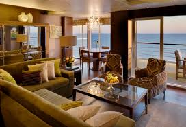 the living room in the crystal symphony penthouse suite cruise
