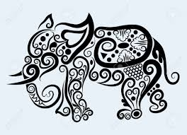 decorative mammal animal and floral ornament decoration royalty
