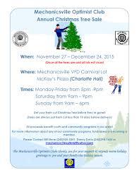mechanicsville optimist club annual christmas tree sale
