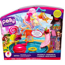 polly pocket ice cream water park play walmart