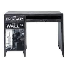 Schreibtisch 90 Schreibtisch Im Industrial Stil Schwarz Bedruckt Wall Street
