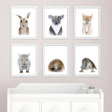 baby animal art australian nursery prints australian zoom